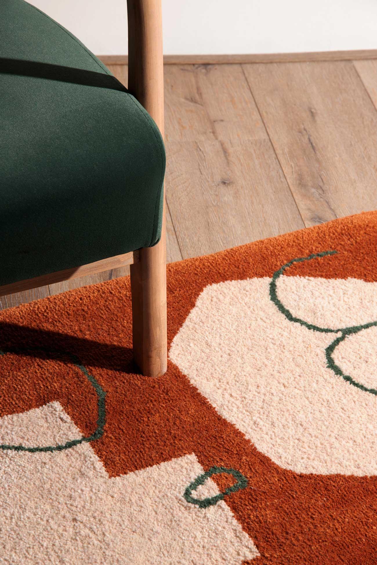 studio mirte van kooten hand tufted glow rug 01