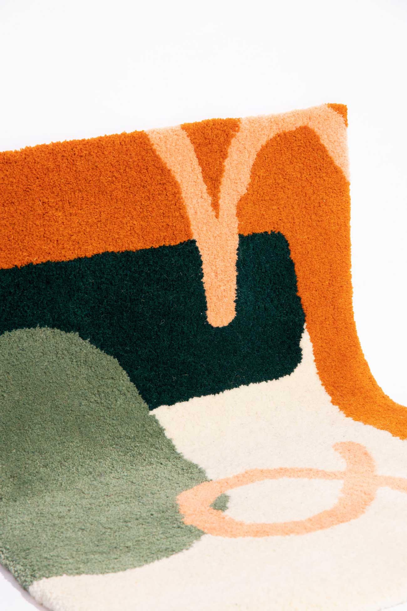 studio mirte van kooten small hand tufted sunup rug 04